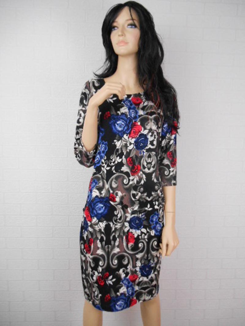 72e67b17f3 Piękna sukienka w kolorowe kwiaty